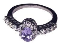 Brand New Ring 18K plated Sterling silver Tanzanite Ring
