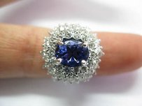 Fine Gem Tanzanite Diamond Anniversary Ring Wg 4.20ct
