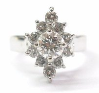 Fine Round Cut Diamond White Gold Jewelry Ring 1.34ct