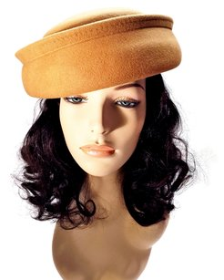 Camel Felt Modified Bowler by Amanda Smith; Fall & Winter [ HeavenlyHats ]