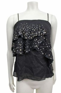 Other Twelfth Street By Cynthia Street Bronze Grommets Trim Layer Top Black
