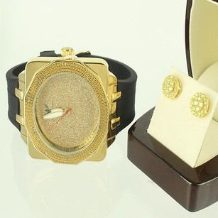 Canary Tier Style Cluster Earring Diamond King Men Box Display Men Classy Watch