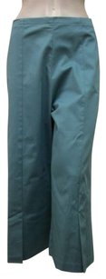 Other Staples Teal Blend Gaucho Capri Made In Usa Capri/Cropped Pants Blue