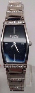 Other Caravelle Diamond Black Dial Womens Watch