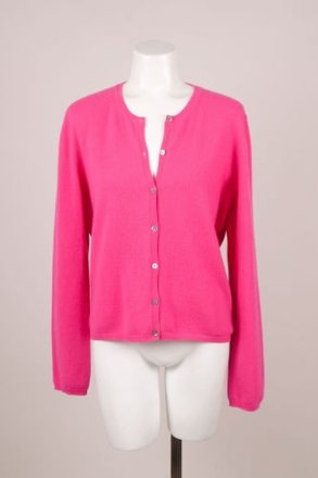 Manrico Fuchsia Cashmere Long Sleeve Cardigan #18007561 - Sweaters & Pullovers 80%OFF