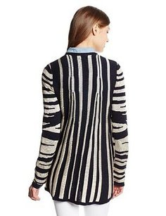 Other Minnie Rose Womens Zebra Cardigan Sweater