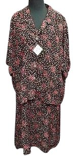 Other Carol Anderson Ii California Black Pink Green Floral Rayon Dress Suit 2x 4283a