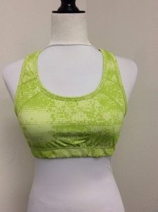 Other Cascade Sport Speed Dri Sports Bra Athletic Yoga Top Lime Green