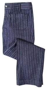 Other The Seafarer Womens Striped 27 Blend Casual Trousers Pants