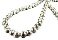 Other 10k 8 Mm White Gold 40 Inch Franco Beaded Moon Chain