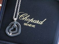 Chopard 18kt Happy Diamond Double Hearts Pendant