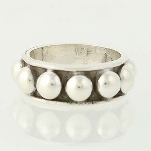 Other Chunky Bead Ring - Sterling Silver 8.75 Band Mexico 925 Unisex