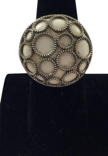 Other Cid .925 Sterling Silver White Stone Silver Circles