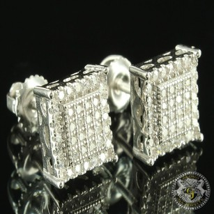 Other Classy White Edition Gold Finish Men Prong Tower Design Lab Diamond Earring Sale