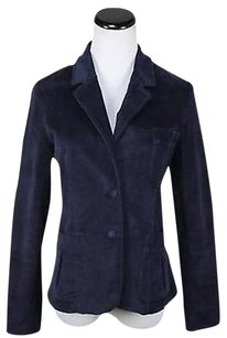 Co-op Womens Navy Blazer Long Sleeve Cotton Basic Jacket Career