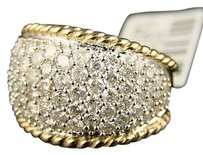 2.00 Ct Ladies Domed Cluster Cocktail Diamond Band Ring