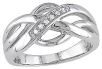 Sterling Silver Diamond Fashion Ring 925 Gh I3
