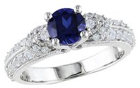 Other 1 58 Ct Tgw Sapphire White Sapphire Fashion Ring In Sterling Silver