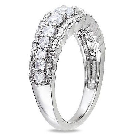 Other 1 18 Ct Tgw White Sapphire Fashion Ring In Sterling Silver