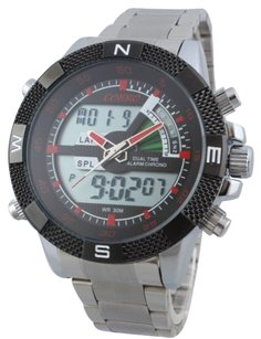 Other Cohro G T Sky Shock Gmt1104red Seiko Mvnt Dual Time Pathfinder Men Watch Glx