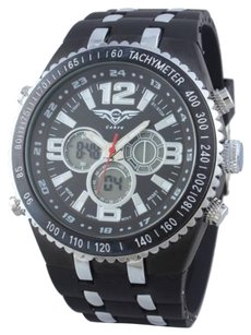 Other Cohro G T Sky Shock Gmt1107wht Seiko Mvnt Dual Time Race Crew Men Watch 1000fc