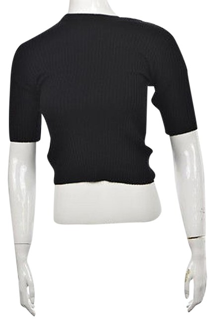 hot sale 2017 Barneys Ny Womens Black Crewneck Sweater Short Sleeve Wool Top #20209656 - Sweaters & Pullovers