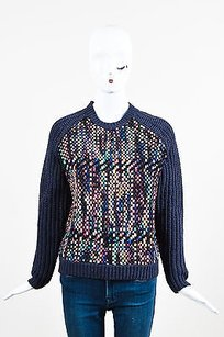 Nocturne Navy Multicolor Wool Sweater