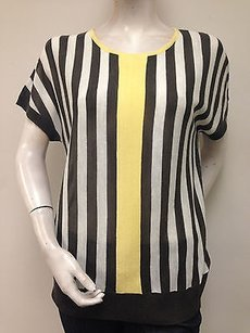 Other Adam Jacobs Gray Cream Yellow Vertical Striped With Tags Sweater