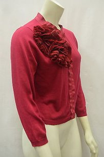Other Maxmara Pianoforte Gigante Burgundy Silkcashmere Crop Cardigan 140759mm Sweater