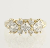Cubic Zirconia Cocktail Ring - 14k Yellow Gold Womens - 14 Fashion Cz