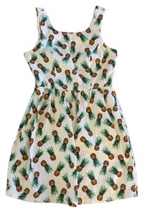 Other short dress White Cutout Pineapple Cutout Print on Tradesy