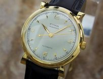 Cyma Swiss Made Bumper Automatic 1950s Vintage Gold Plated Swiss Watch H10