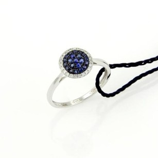 Damiani Bliss Forme Sapphire Diamond 18k White Gold Ring - Box Book
