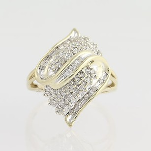 Diamond Cluster Cocktail Ring - 10k Yellow White Gold .25ctw