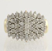 Other Diamond Cluster Cocktail Ring - 14k Yellow White Gold 12 Genuine 2.00ctw