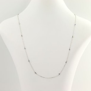 Diamond Necklace 20 - 14k White Gold Modified Cable Chain .36ctw