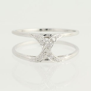 Diamond Ring - 14k White Gold Contemporary .05ctw