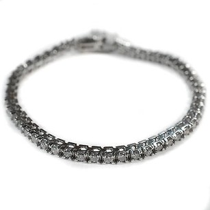 Diamond Tennis Bracelet 3.19 Ct Diamonds K White Gold Grams Womens