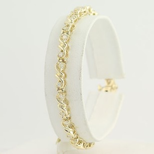 Diamond Tennis Bracelet 34 - 14k Yellow Gold Womens Gift Genuine 1.50ctw