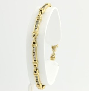 Other Diamond Tennis Bracelet 7 - 14k Yellow Gold Womens Natural Round 1.20ctw