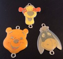 Other Disney Enamel Charms Lot Of Winnie The Pooh Tigger Eeyore