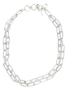 Double Link Sterling Silver Chain Necklace 16