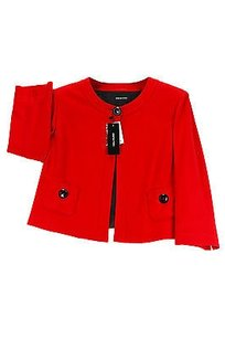Elena Mir Womens Blazer Red Virgin Wool
