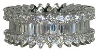 Other Emerald and brilliant cut AAA CZ eternity band