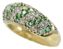Other Emerald Diamonds Ring 14k Yellow Gold 1.07ct In Total