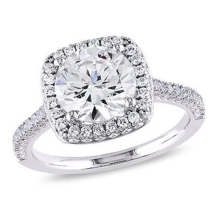 Silver 5 Ct Tgw Cubic Zirconia Engagement Ring