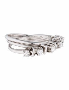 Other Estate 18k White Gold And 0.35ct Diamond Rolling Ring