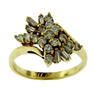 Other Estate 18k Yellow Gold And Diamond Butterfly Ring