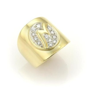 Estate Boris Le Beau Diamonds 20mm Wide Fancy Design Band Ring -