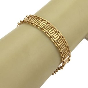 Other Estate Greek Design 18k Yellow Gold 11mm Wide Bracelet
